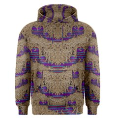 Pearl Lace And Smiles In Peacock Style Men s Pullover Hoodie