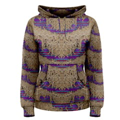 Pearl Lace And Smiles In Peacock Style Women s Pullover Hoodie