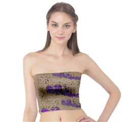 Pearl Lace And Smiles In Peacock Style Tube Top