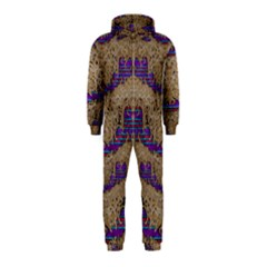 Pearl Lace And Smiles In Peacock Style Hooded Jumpsuit (kids)