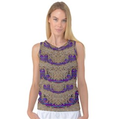 Pearl Lace And Smiles In Peacock Style Women s Basketball Tank Top