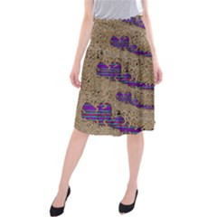 Pearl Lace And Smiles In Peacock Style Midi Beach Skirt
