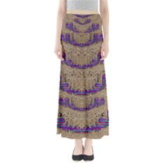 Pearl Lace And Smiles In Peacock Style Full Length Maxi Skirt