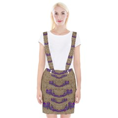 Pearl Lace And Smiles In Peacock Style Braces Suspender Skirt