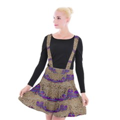 Pearl Lace And Smiles In Peacock Style Suspender Skater Skirt