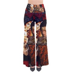 Steampunk, Beautiful Steampunk Lady With Clocks And Gears Pants