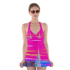 Chrysler2 Halter Swimsuit Dress