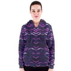 Geometric Pattern 173 C2 170302 Women s Zipper Hoodie