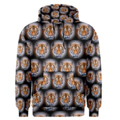 Cute Animal Drops   Tiger Men s Pullover Hoodie