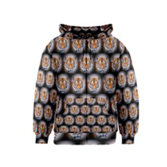 Cute Animal Drops   Tiger Kids  Zipper Hoodie