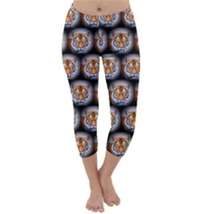 Cute Animal Drops   Tiger Capri Winter Leggings