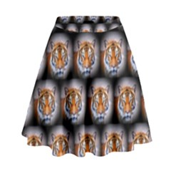 Cute Animal Drops   Tiger High Waist Skirt