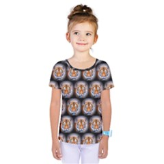 Cute Animal Drops   Tiger Kids  One Piece Tee