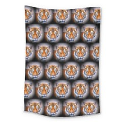 Cute Animal Drops   Tiger Large Tapestry