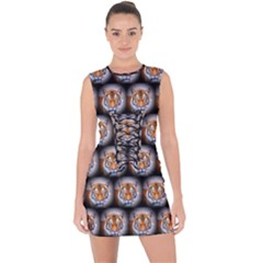 Cute Animal Drops   Tiger Lace Up Front Bodycon Dress