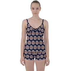 Cute Animal Drops   Tiger Tie Front Two Piece Tankini