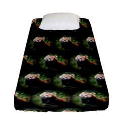 Cute Animal Drops   Red Panda Fitted Sheet (single Size)
