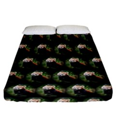 Cute Animal Drops   Red Panda Fitted Sheet (california King Size)