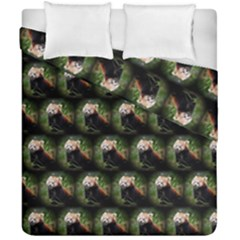 Cute Animal Drops   Red Panda Duvet Cover Double Side (california King Size)