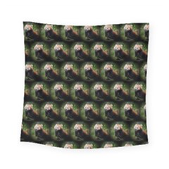 Cute Animal Drops   Red Panda Square Tapestry (small)