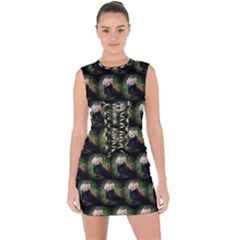 Cute Animal Drops   Red Panda Lace Up Front Bodycon Dress