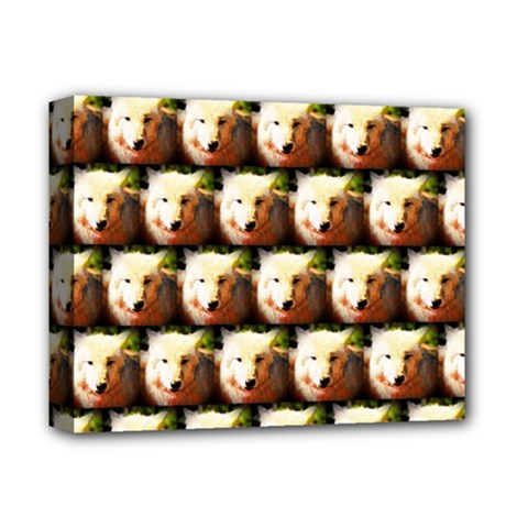 Cute Animal Drops   Wolf Deluxe Canvas 14  X 11