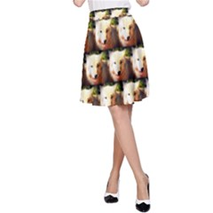 Cute Animal Drops   Wolf A Line Skirt