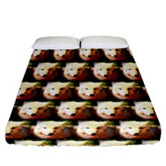 Cute Animal Drops   Wolf Fitted Sheet (california King Size)