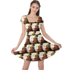 Cute Animal Drops   Wolf Cap Sleeve Dress