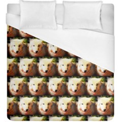 Cute Animal Drops   Wolf Duvet Cover (king Size)