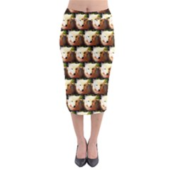 Cute Animal Drops   Wolf Midi Pencil Skirt