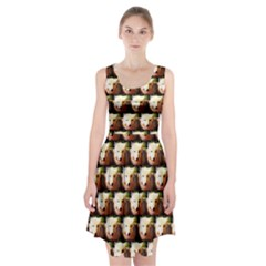 Cute Animal Drops   Wolf Racerback Midi Dress