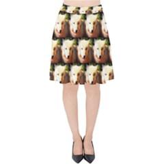 Cute Animal Drops   Wolf Velvet High Waist Skirt