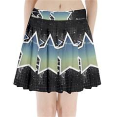 Stars Pleated Mini Skirt