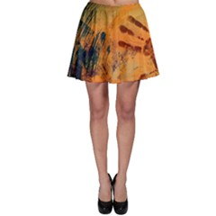 Prints Hand Paint Masks Different Color  Skater Skirt
