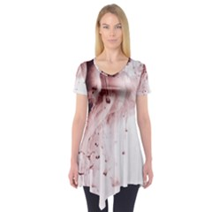Paint Drops Streams  Short Sleeve Tunic