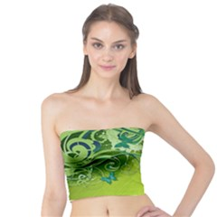 Green Vector Leafs Tube Top