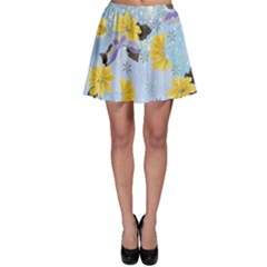 Color Background Pattern Surface  Skater Skirt