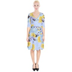 Color Background Pattern Surface  Wrap Up Cocktail Dress