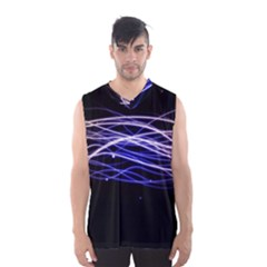 Abstraction Colorful Lines Dark  Men s Basketball Tank Top