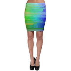 Colors Rainbow Pattern Bodycon Skirt