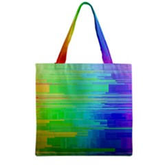 Colors Rainbow Pattern Grocery Tote Bag