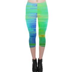 Colors Rainbow Pattern Capri Leggings