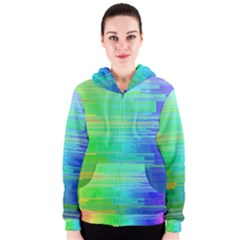 Colors Rainbow Pattern Women s Zipper Hoodie