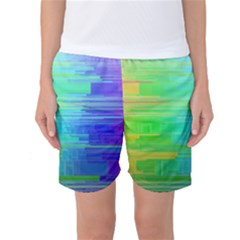 Colors Rainbow Pattern Women s Basketball Shorts