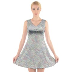 Solved Word Search Containing Animal Related Words V Neck Sleeveless Skater Dress