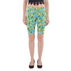 Lemon Pattern Yoga Cropped Leggings