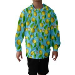 Lemon Pattern Hooded Wind Breaker (kids)