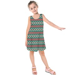 Ethnic Geometric Pattern Kids  Sleeveless Dress