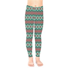 Ethnic Geometric Pattern Kids  Legging